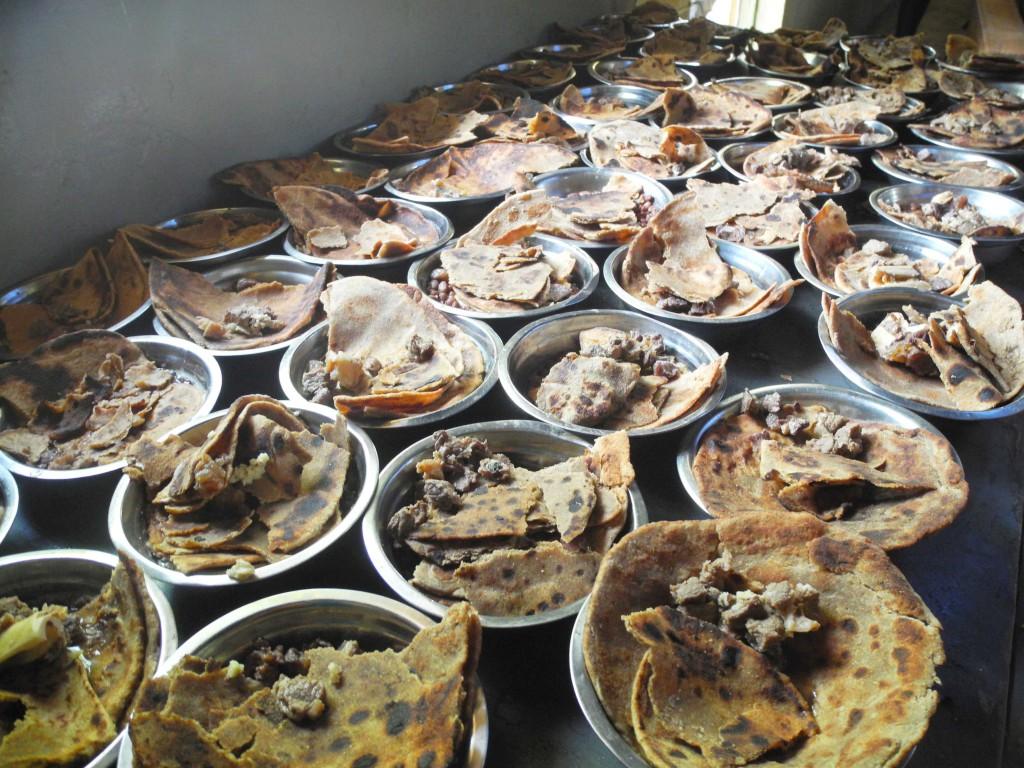 Osteressen: Chapati mit Kidneybohnen und Fleisch