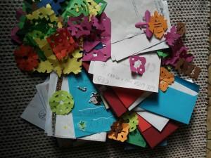 Einige der Weihnachtsbriefe